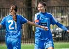 """Sieviešu līga: """"Rīgas Futbola skola"""" uzvara deviņu vārtu trillerī un """"desmit no desmit"""""""