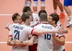 Latvijas vīriešu volejbola izlase Zelta līgā pārliecinoši zaudē igauņiem