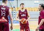 Banki šodien aizvadījis pirmo treniņu ar izlasi, 18. jūnijā Latvija spēlēs pret Poliju