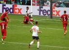 """Video: """"Euro 2020"""" otrā pusfināla papildlaikā Anglija pieveic dāņus"""