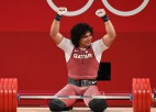 Kataras svarcēlājam olimpiskie rekordi, bronza Eiropas čempionam no Gruzijas