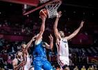 Batuma bloks ievelk Franciju finālā, Dončičam pirmais zaudējums ar Slovēniju
