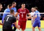 Latvija nenotur seta pārsvaru un dramatiskā cīņā piecos setos zaudē Horvātijai