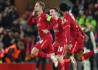 ''Liverpool'' piecu vārtu <i>trillerī</i> atspēlējas un pieveic ''Milan'', ''Atletico'' neizšķirts