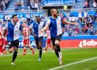 """Spānijas čempione """"Atletico"""" atkal neiesit un pret pastarīti piedzīvo pirmo zaudējumu sezonā"""