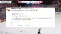 """Pēc uzvaras pār Dāniju hokeja līdzjutējs ietur īpašu """"maltīti"""" - notiesā tualetes papīra rulli"""