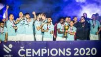 """""""Riga"""": pret septiņām komandām laukumā vienīgi uzvaras, pelnīts trešais tituls"""