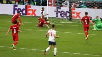 """""""Euro 2020"""" otrā pusfināla papildlaikā Anglija pieveic dāņus"""