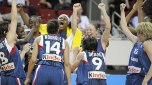 Eiropas čempiones - Francijas basketbolistes