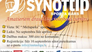 Piesakies Synottip Tautas volejbola līgai!
