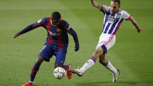 """Dembelē 90. minūtē iekaro """"Valladolid"""" cietoksni, """"Atletico"""" pārsvars vairs tikai punkts"""