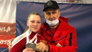 Svarcēlāja Ivanova izcīna sudraba medaļu Eiropas junioru čempionātā