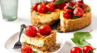 Tomātu un siera kūka