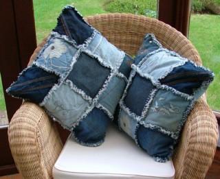 Foto: Spilveni no novalkātiem džinsiem. 25 radošas idejas