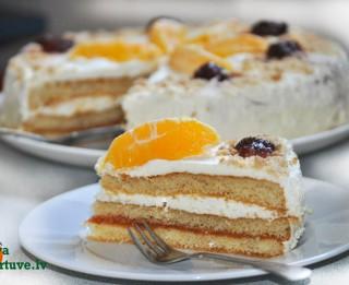 Ātrā putukrējuma torte