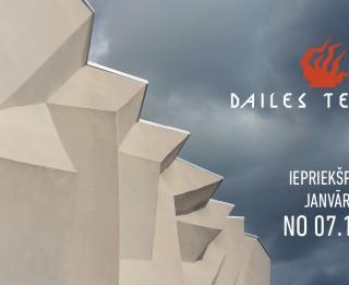 Sākusies biļešu iepriekšpārdošana uz Dailes teātra izrādēm janvārī