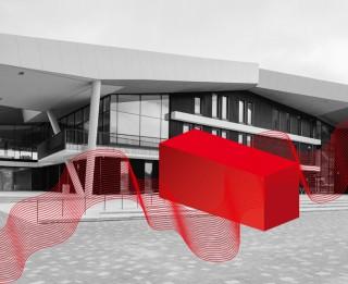 """Koncertzāles """"Latvija"""" ieeju aizšķērsos konteiners ar kultūru"""
