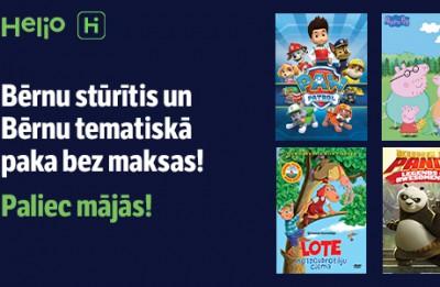 #paliecmajas. Helio iTV klientiem Bērnu stūrītis un Bērnu tematiskā paka bez maksas