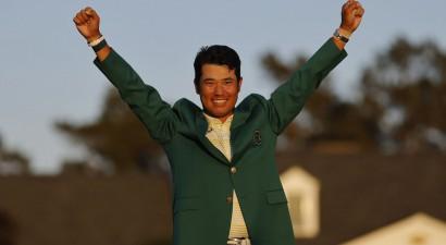 """Macujama kļūst par Japānas pirmo čempionu golfa """"major"""" turnīros"""