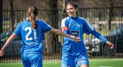 """""""Rīgas Futbola skola"""" apspēlē pastarīti un nostiprinās sieviešu līgas līderpozīcijā"""