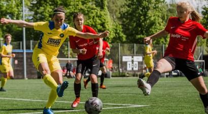 Sieviešu līga futbolā: ''Liepājas futbola skola'' izrauj bronzu, ''Rīgas Futbola skolai'' tituls