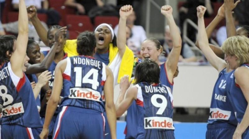 Eiropas čempionātā Rīgā triumfēja Francijas spēlētājas. Foto: Romāns Kokšarovs, f64