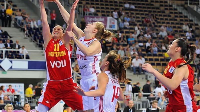 Turcijas un Melnkalnes spēles epizode Foto: FIBA Europe