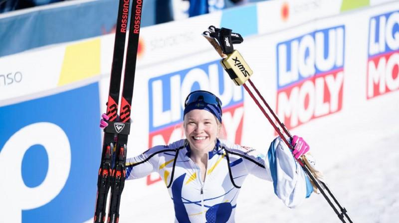 Jonna Sundlinga jau izcīnījusi divus zeltus šajā pasaules čempionātā. Foto: Nordic Focus