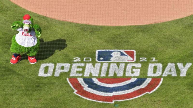 """MLB atklāšanas dienā Atlantas """"Braves"""" spēlēja Filadelfijā. Foto: AFP/Scanpix"""