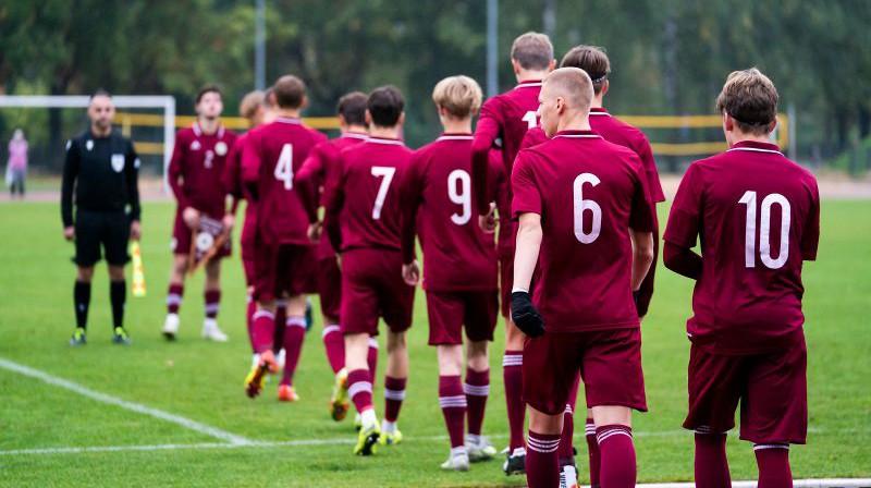 Latvijas U17 izlase. Foto: LFF