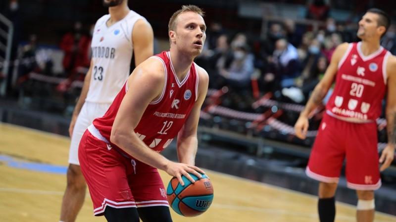 Artūrs Strautiņš. Foto: FIBA Europe Cup