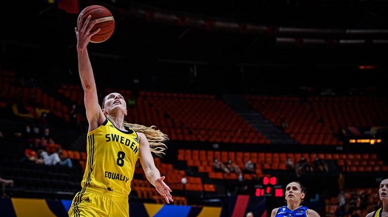 """Elena Nīštrēma un Zviedrija: sestā vieta """"Women`s EuroBasket 2021"""". Foto: EuroBasket Women"""