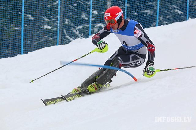K.Zvejniekam labākā 44.vieta divos Eiropas kausa posmos slalomā