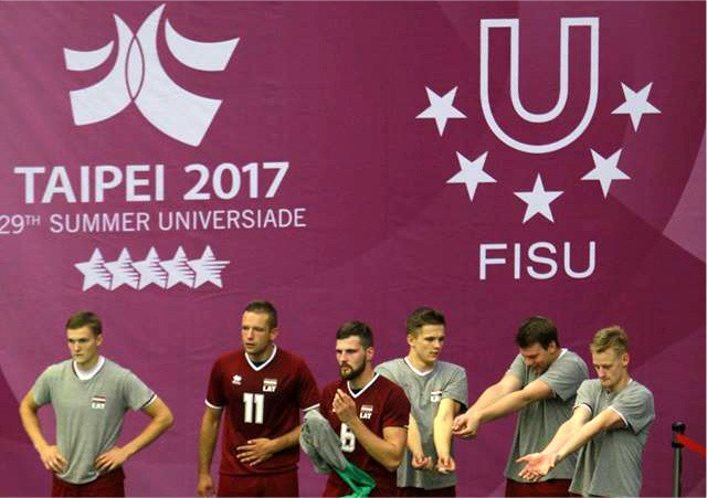 Latvijas volejbolisti zaudē amerikāņiem un pasaules universiādē finišē 18. vietā