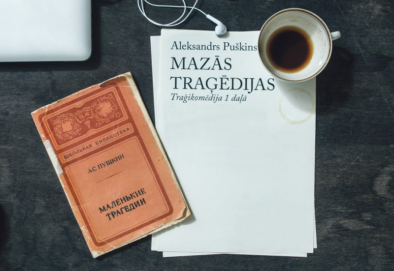 """Valmieras teātrī pirmizrāde – Puškina """"Mazās traģēdijas"""""""