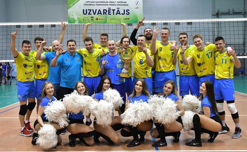 """""""Ventspils"""" volejbolisti nosargā Nacionālās līgas čempionu titulu"""