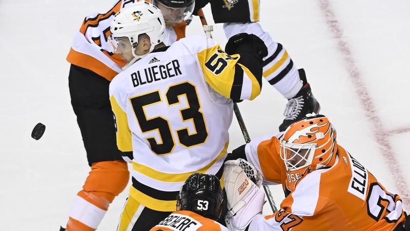 Atsāk arī NHL: Pirmajā naktī spēlēs Bļugers