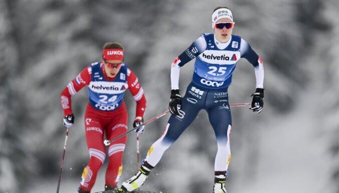 """Eiduka """"Tour de ski"""" ceturtajā posmā atkal iekļūst trīsdesmitniekā"""