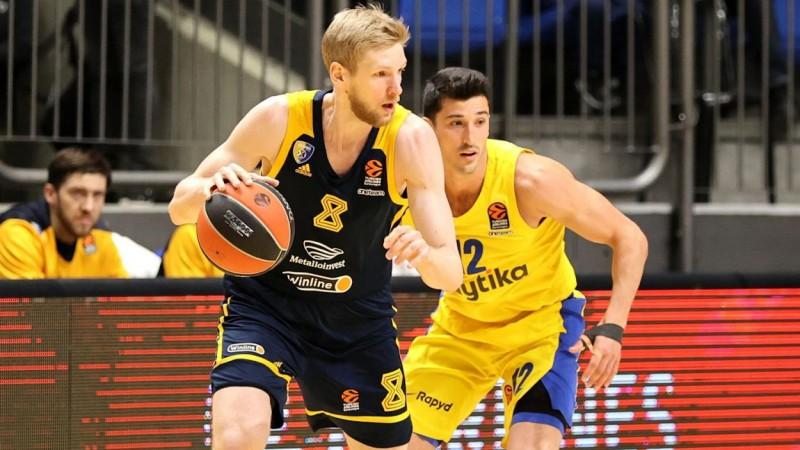 """""""Maccabi"""" pārāka ar +30 sagrauj Eirolīgas pastarīti """"Khimki"""""""