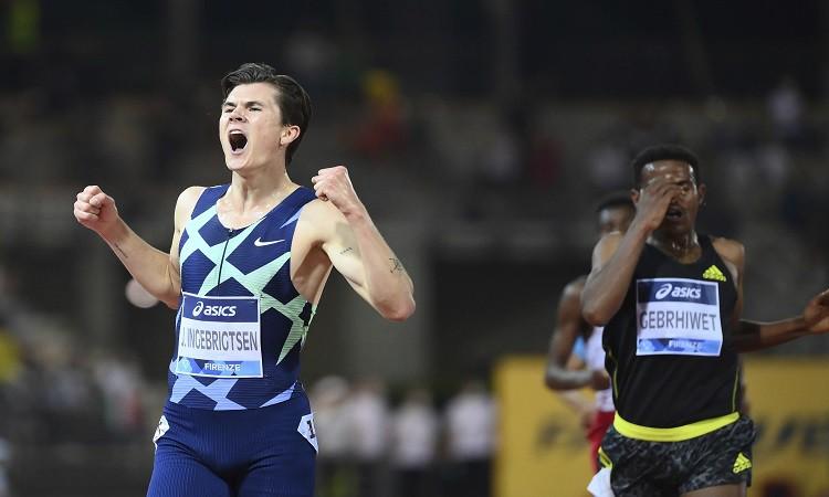 Dimanta līgas posmā Ingebrigtsens labo Eiropas rekordu 5000m